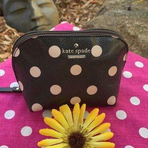 ♠️ KATE SPADE; BNWOT Dot Dome Cosmetic Bag NICE!